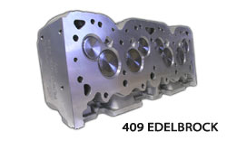 M&M Competition Racing Engines 409 Edelbrock Racing Cylinder Heads